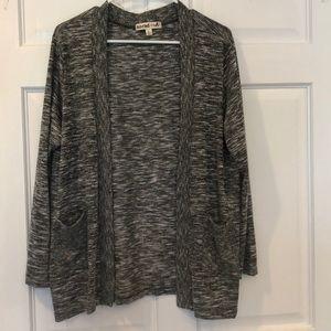 Sweaters - Grey cardigan- size large
